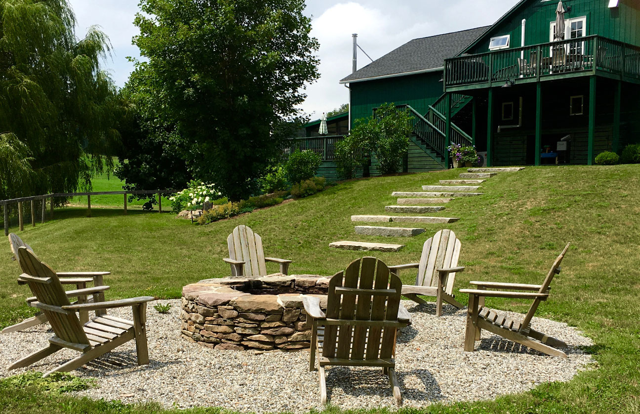 Christine Krause Design Studio | Garden and Fire Pit in Ancramdale, NY